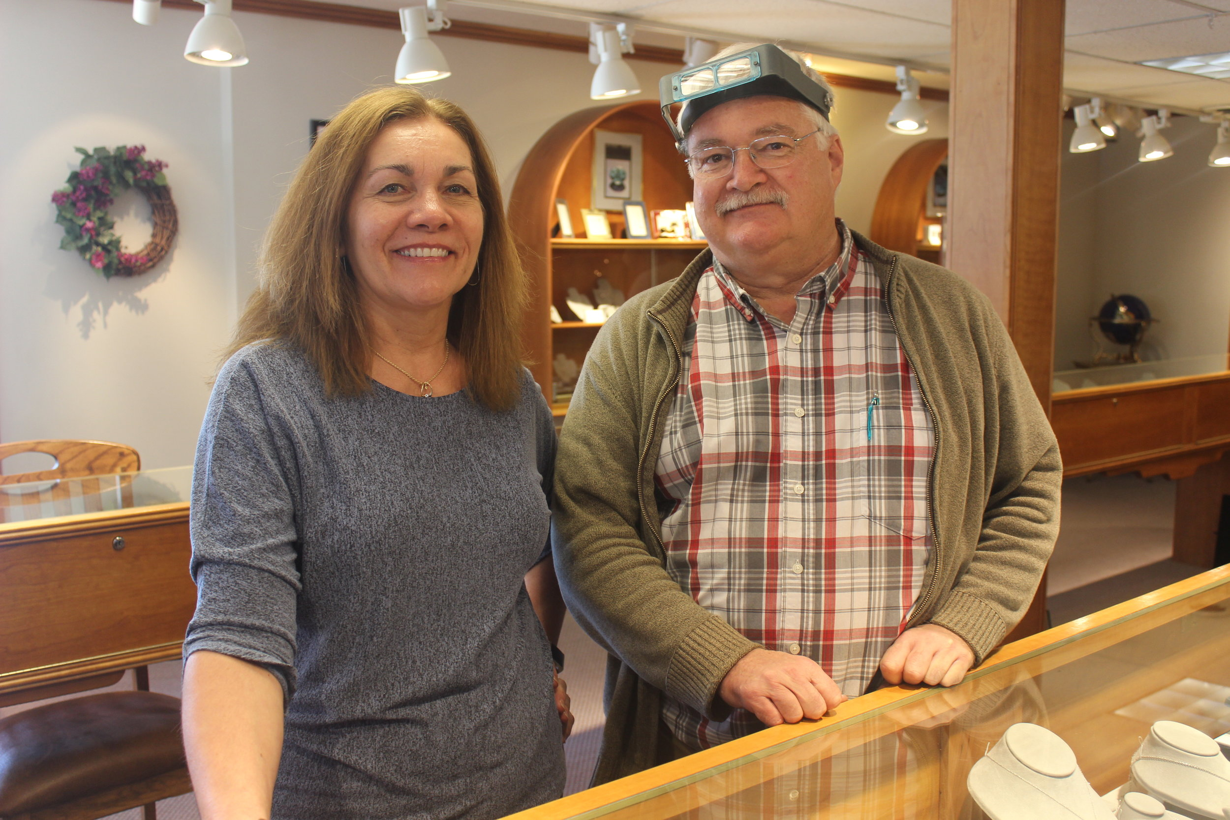Siblings Diane Bassalin and Tim Schneller of Timco Jewelers and Goldsmiths