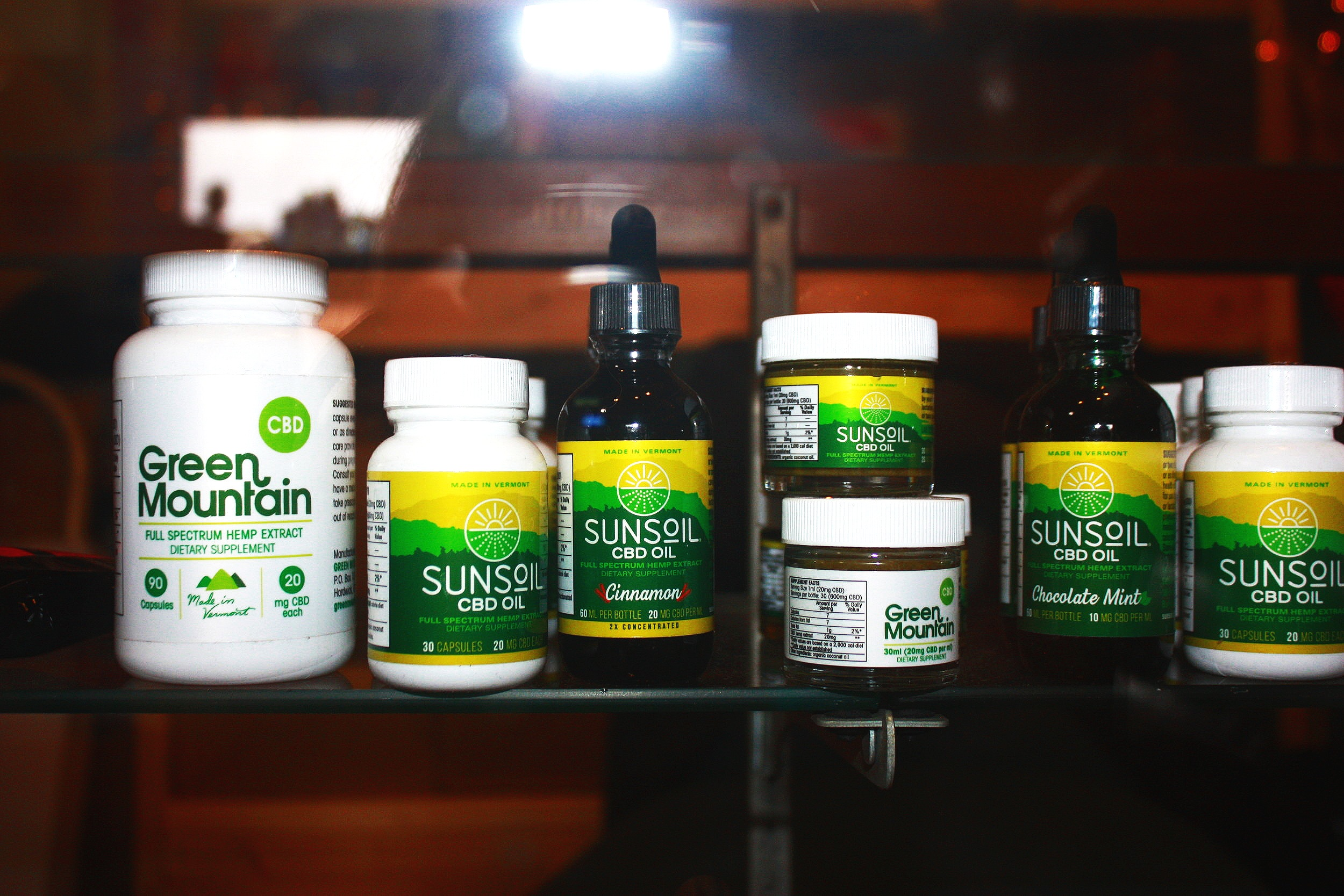 Sunsoil CBD products offered at Grow Vermont in Downtown Rutland