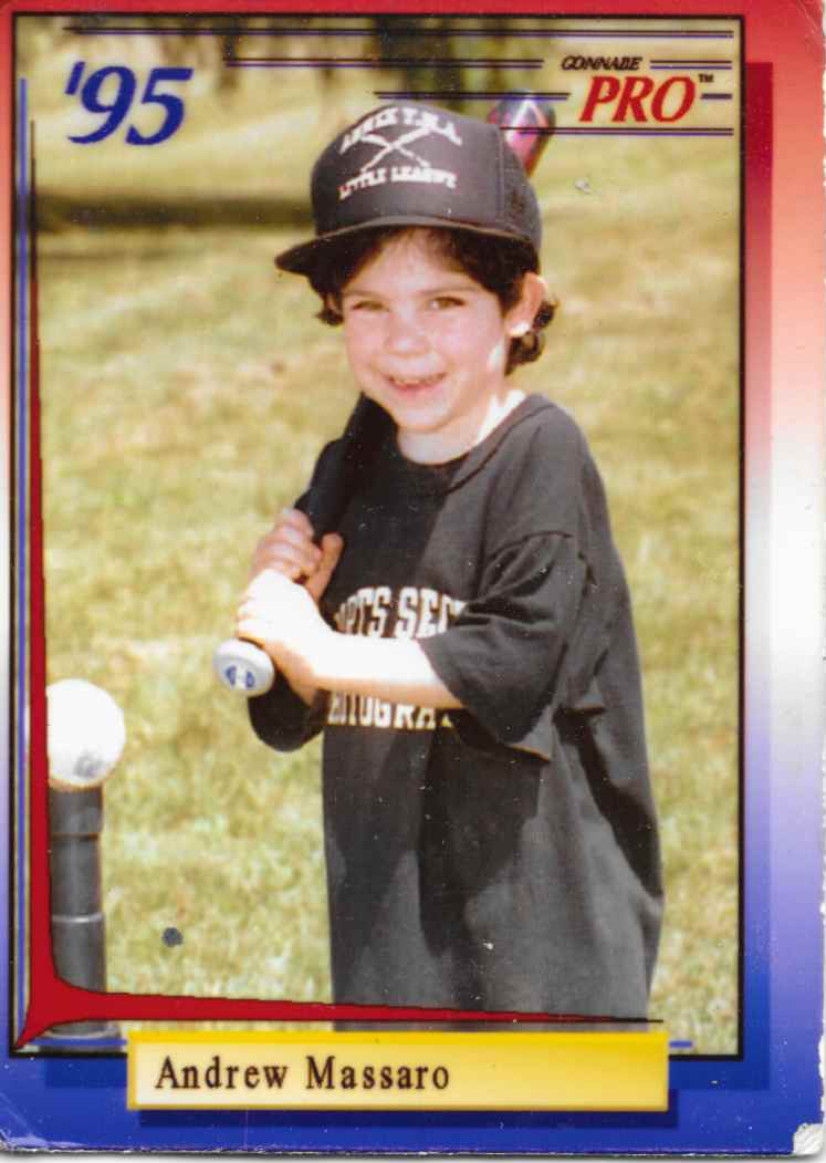 young t-ball star Andrew Massaro Rookie Trading Card