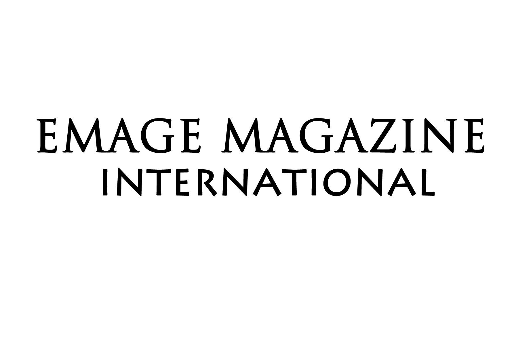 EMAGE Magazine International Black Logo.png