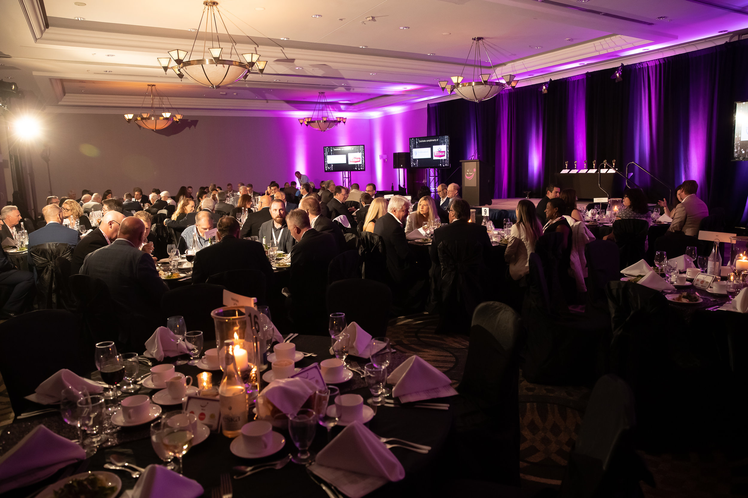 Included with the Gala Dinner is a full course meal, entertainment, featured products, take-home product samples, and a memorable night!