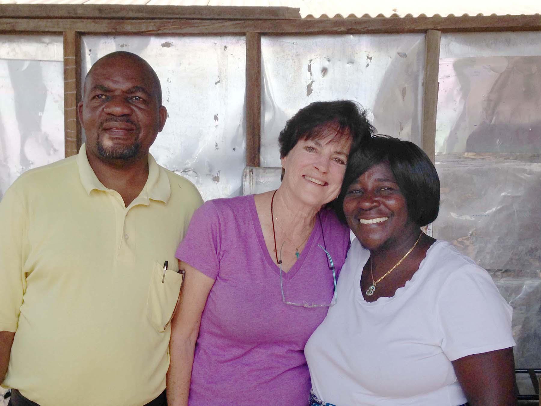 Pastor Wozifera Ngoma, Heidi, and Pastor Easter Ngoma, Zambia, Africa