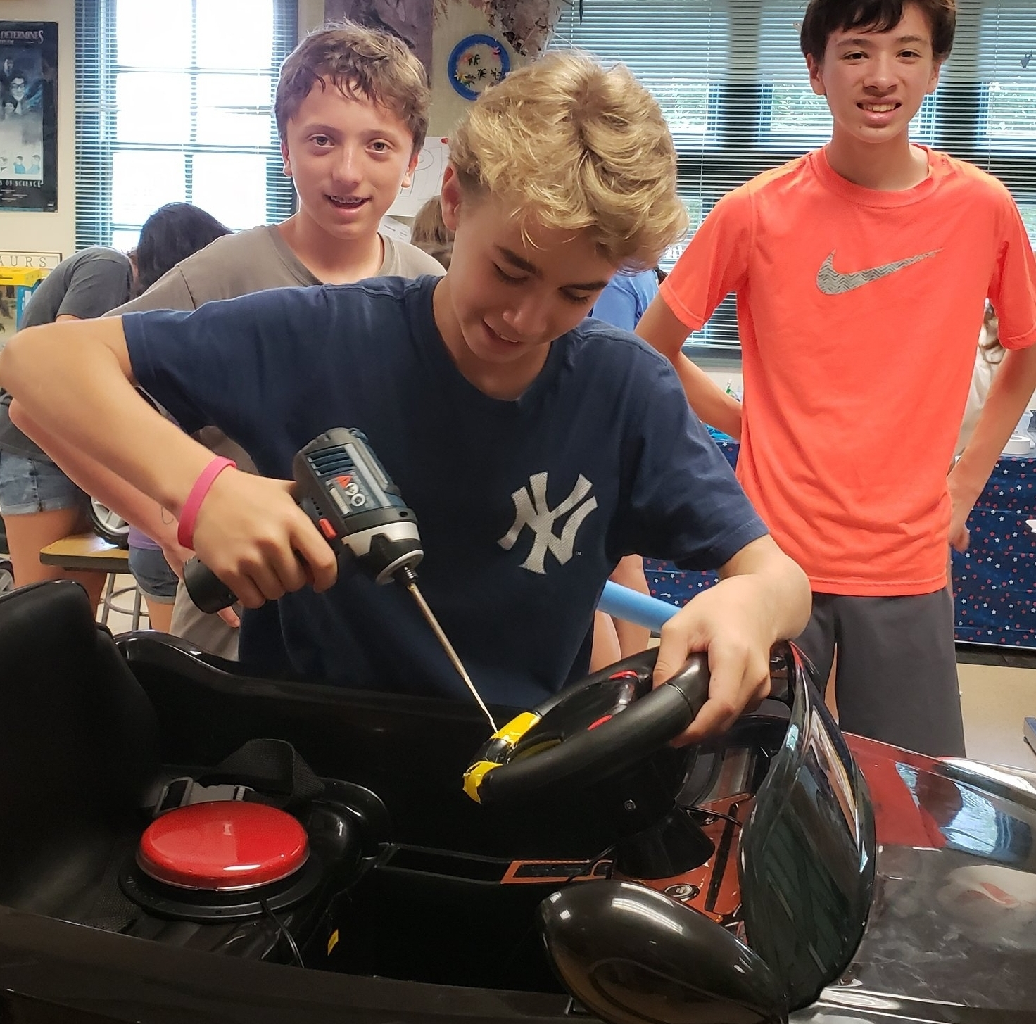 Modifying a steering wheel!