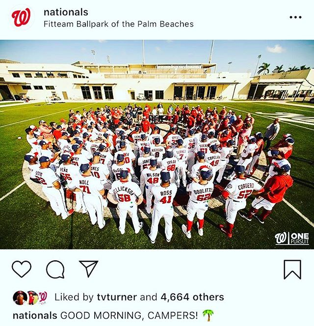 Even the @nationals have camp on their mind! Can't wait for summer! #camp