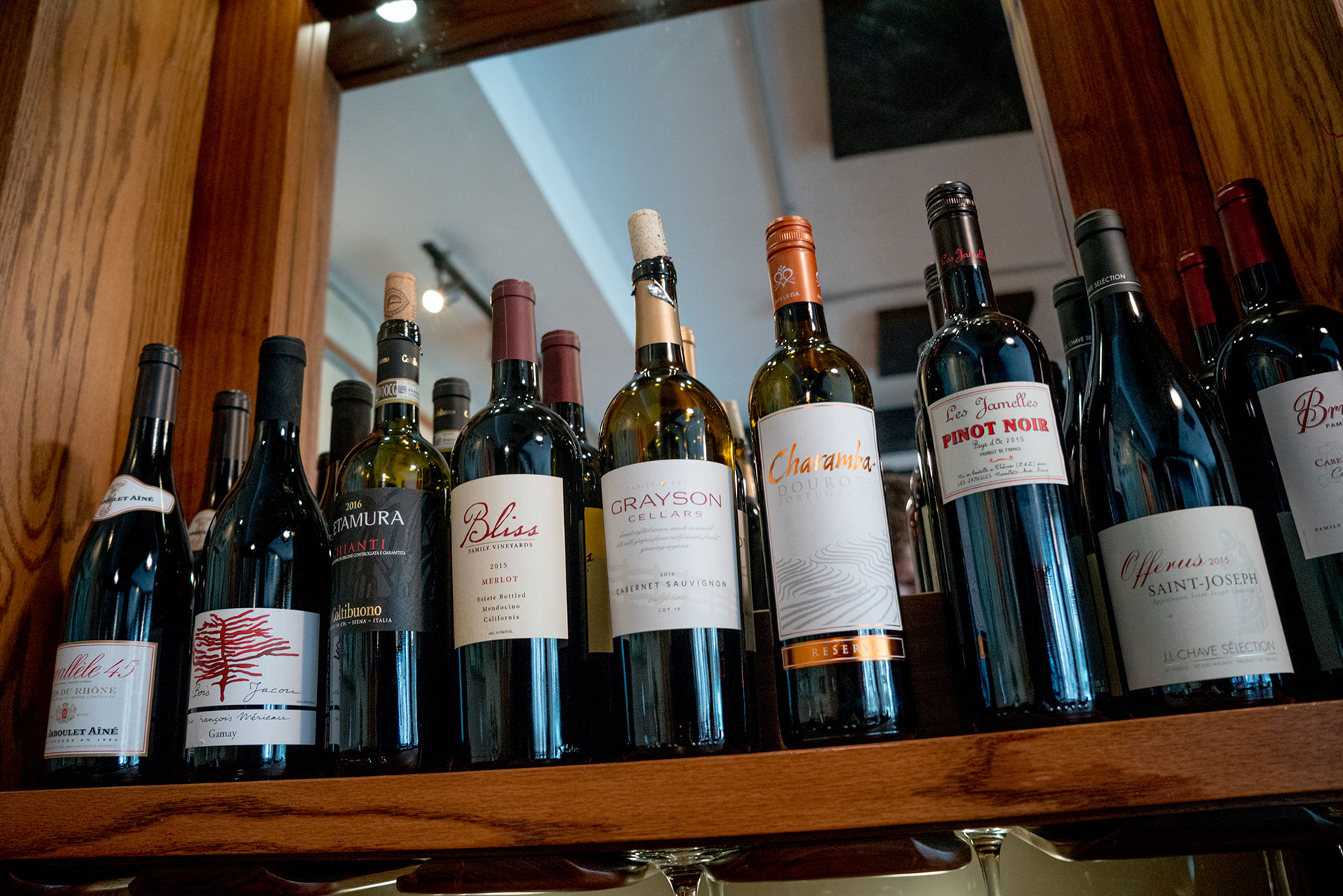 We offer a great selection of Fine Wine and Beer!