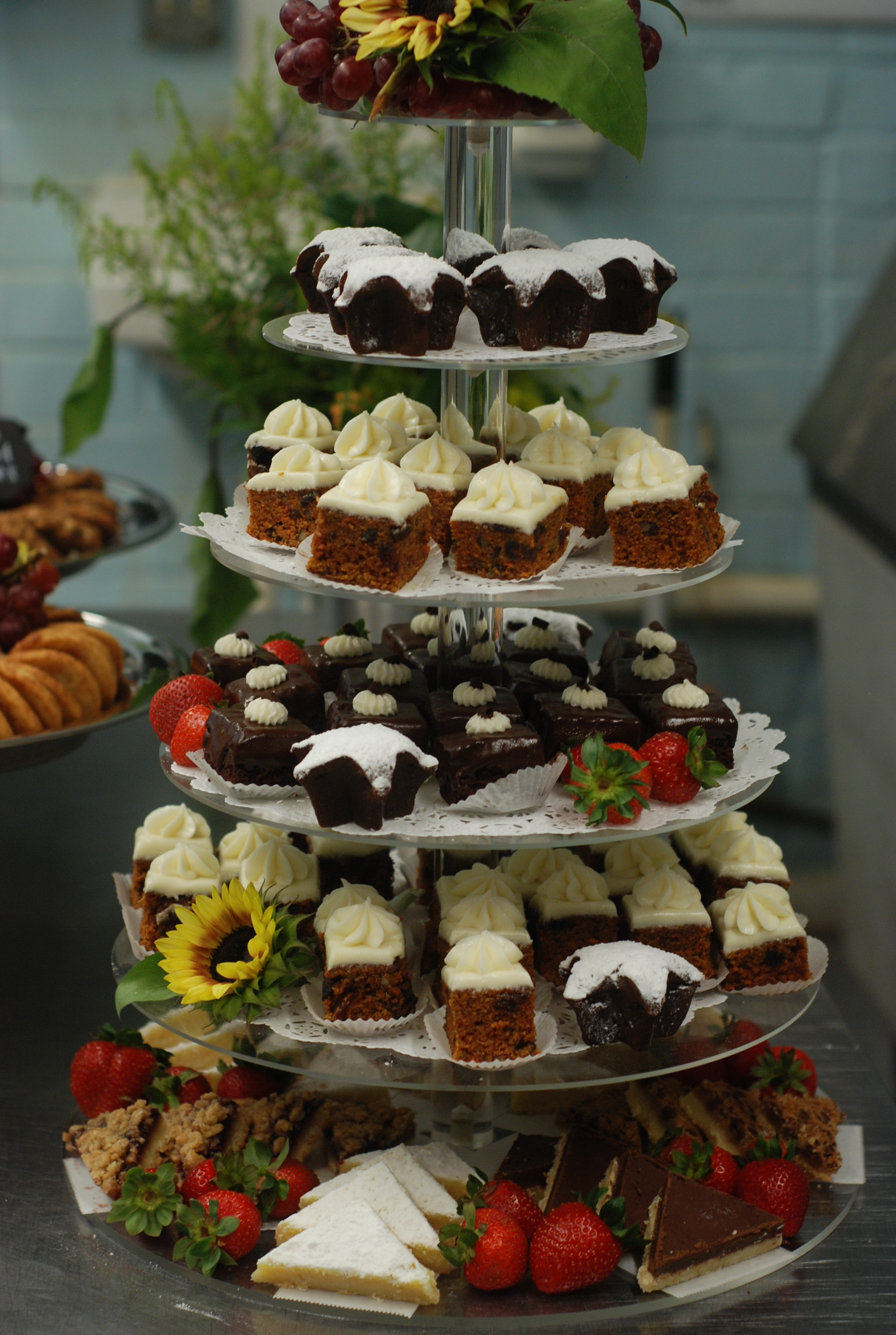 Dessert Tower by Big City Bread Cafe Catering