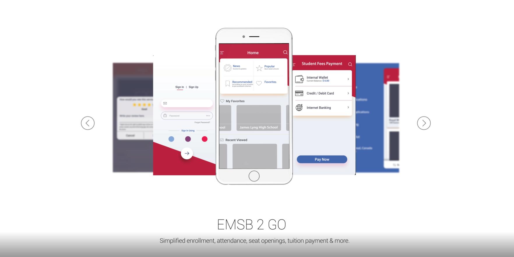 EMSB 2 GO - UI design & motion graphics