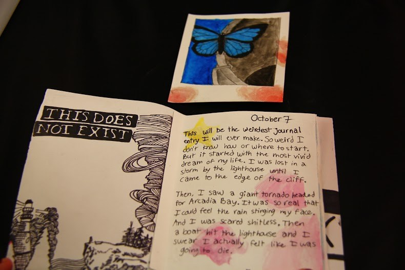 Artist book based on  Life is Strange  - Chrysalis (episode 1) close up