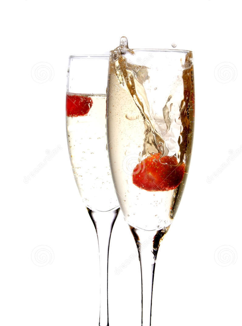 Champagne and Strawberry Cocktail -