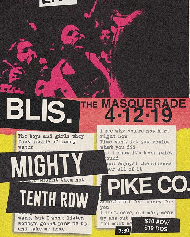 ‪We're thrilled to announce that we'll be back at The Masquerade on Friday, April 12th with our hometown friends in Blis., Mighty, and Pike Co.! Tickets are on sale now via the link below!‬ http://www.ticketmaster.com/event/0E00565AB9F14522