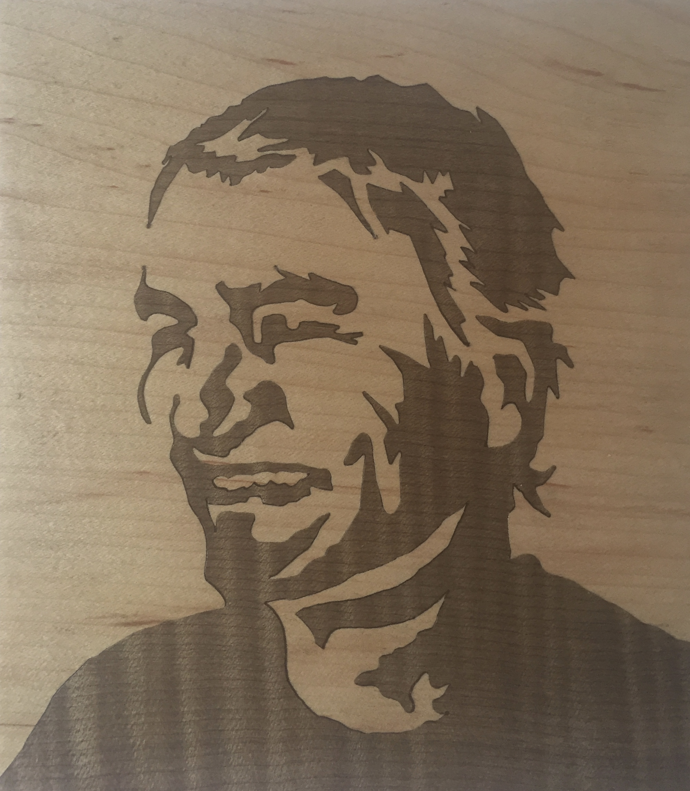 Marquetry Self Portrait