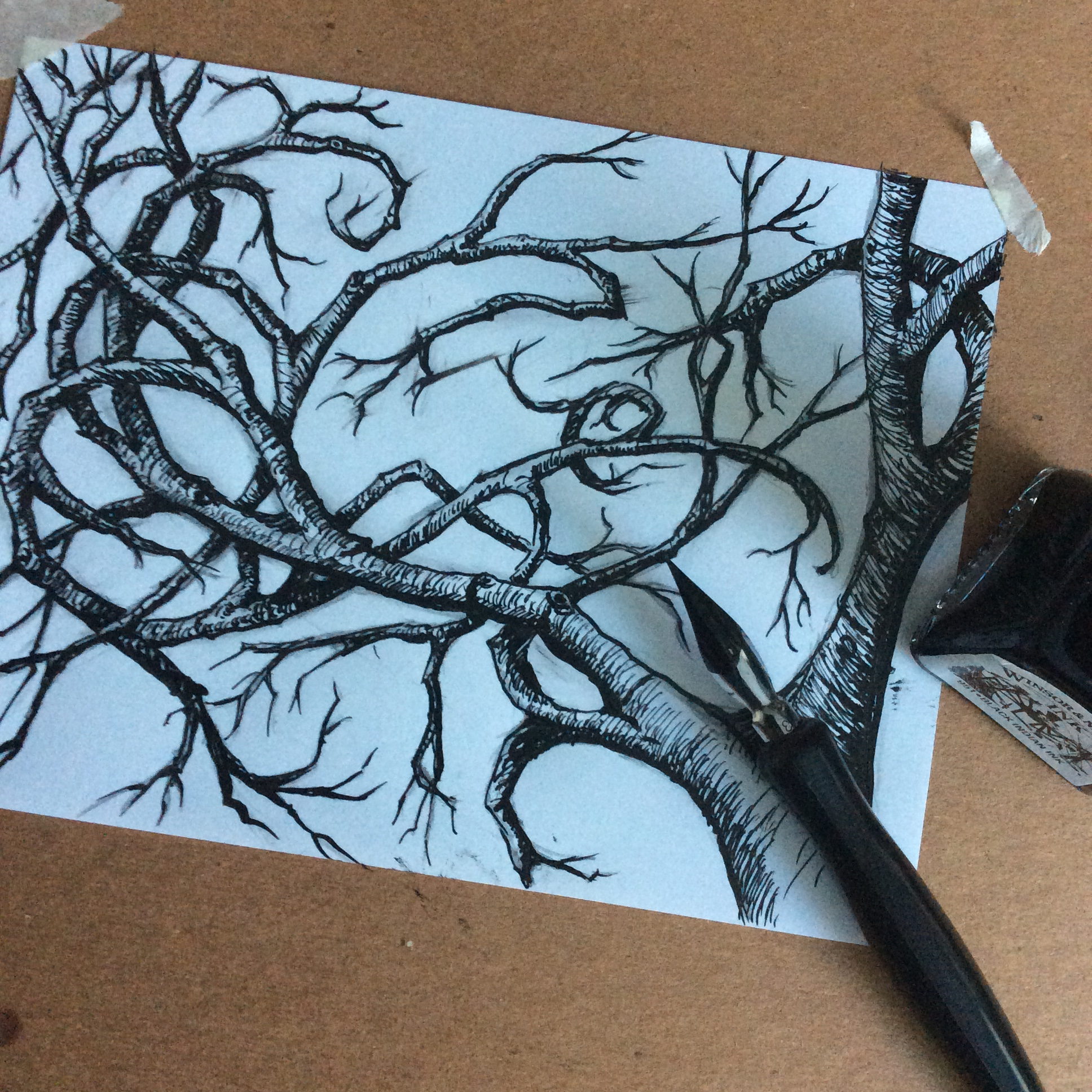 Experimental Sunday pen and ink