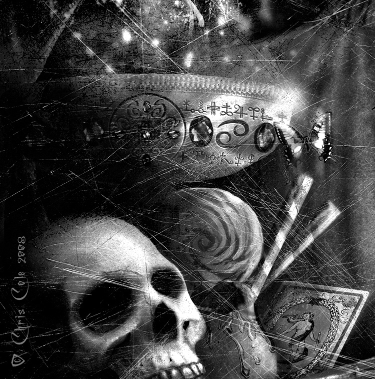 Happy Halloween! (Samhain!)   Portion of an image from an old concert poster