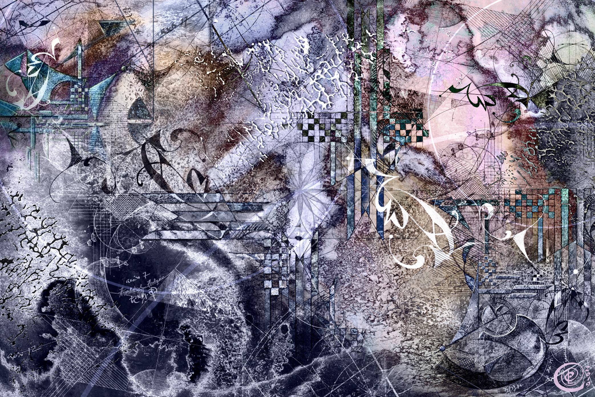 Charting Complexity    © Chris Cole 2019    Medium: Acrylics, Inks, Graphite & Digital