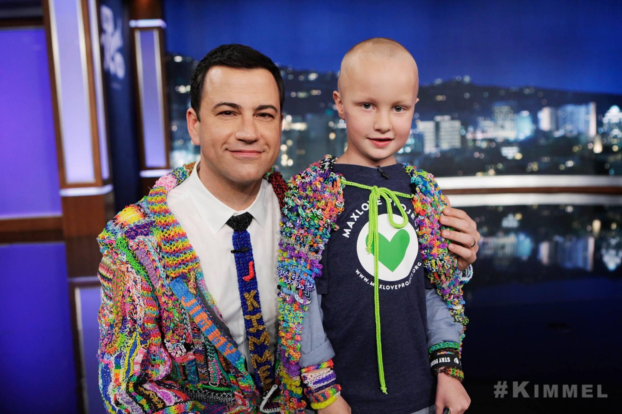 Max on Jimmy Kimmel Live, Feb. 2014
