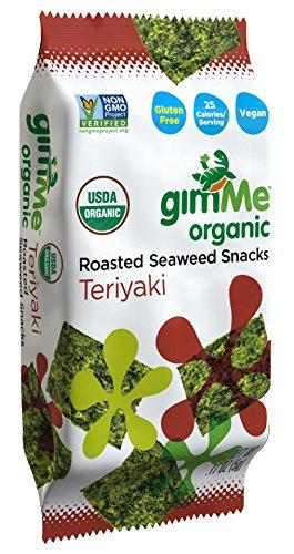 gimMe Snacks Organic Premium Roasted Seaweed, Teriyaki