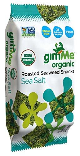 gimMe Snacks Organic Premium Roasted Seaweed, Sea Salt