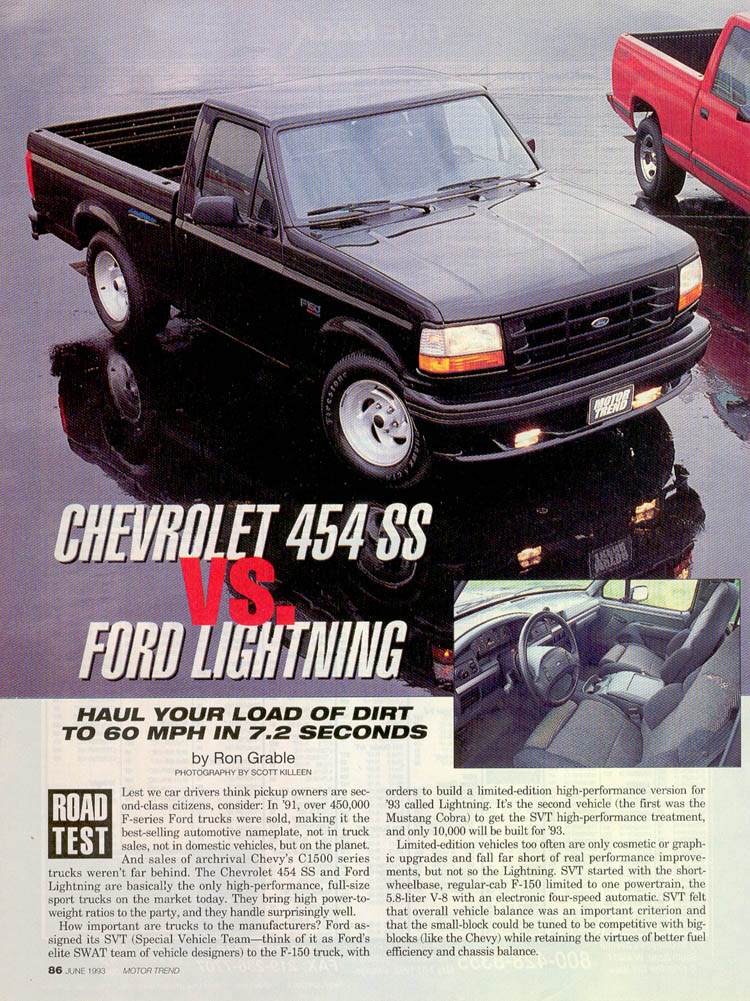 1993 Ford F150 Lightning vs Chevrolet 454 SS — StangBangers