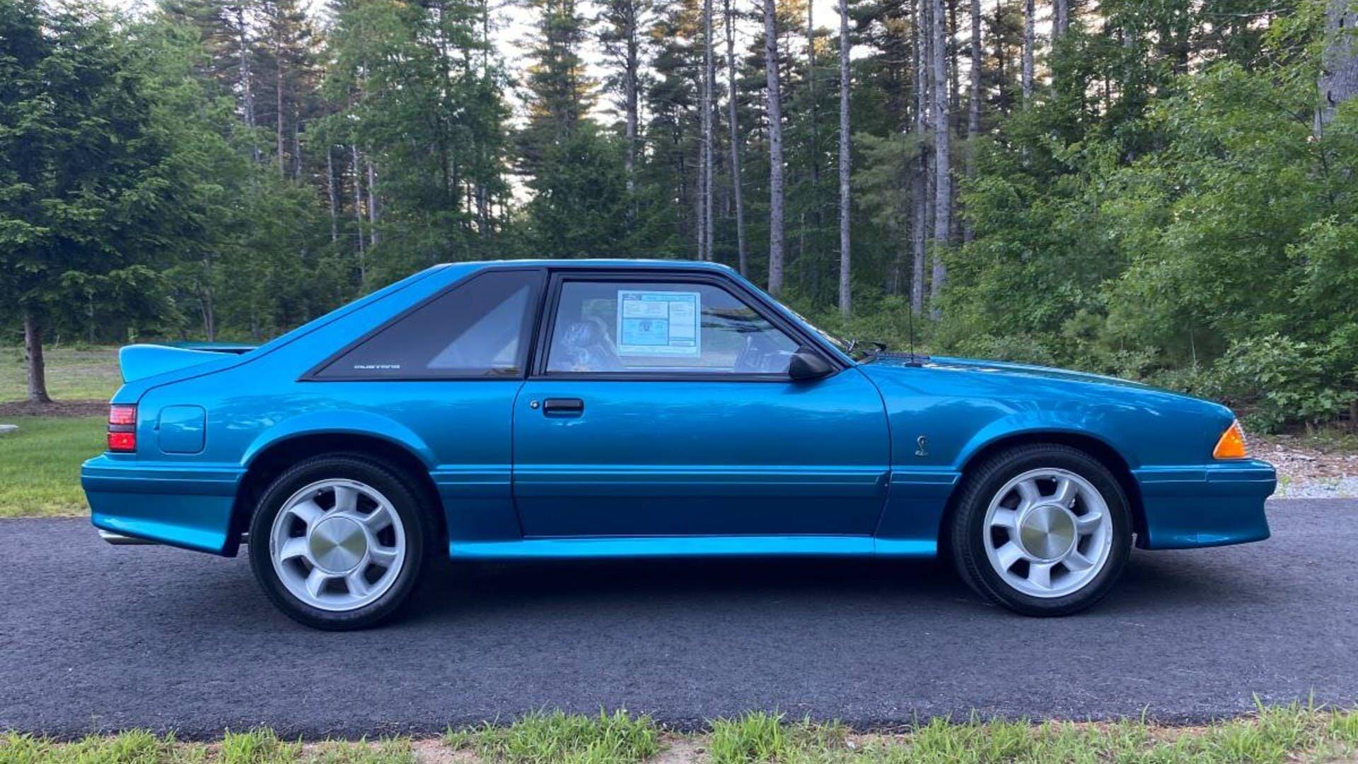 For Sale 1993 Ford Mustang Svt Cobra Teal 5 0l V8 5 Speed 255 Miles 75k Stangbangers