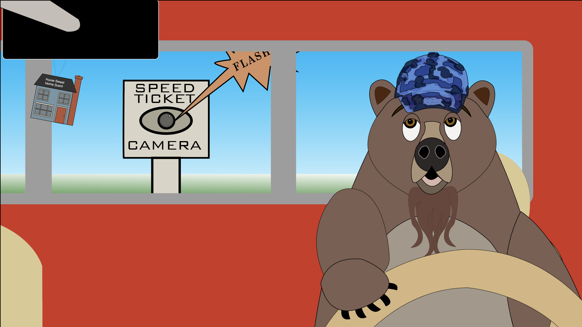 Still image from A Bear That Just Wants Solitude