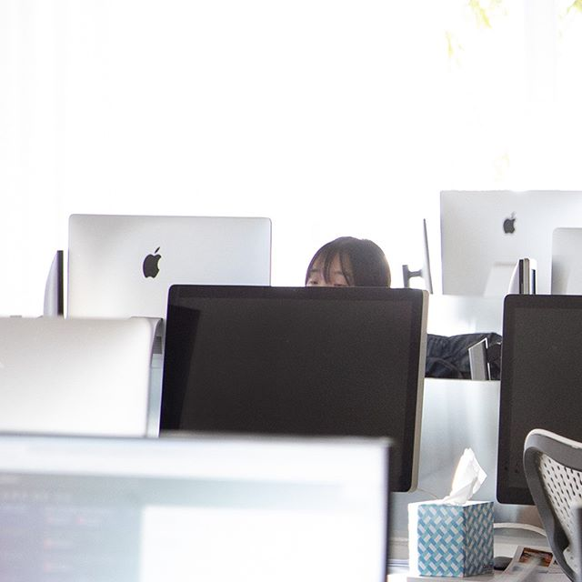 So many computers, such little time. #advertisinglife #adagency #apple