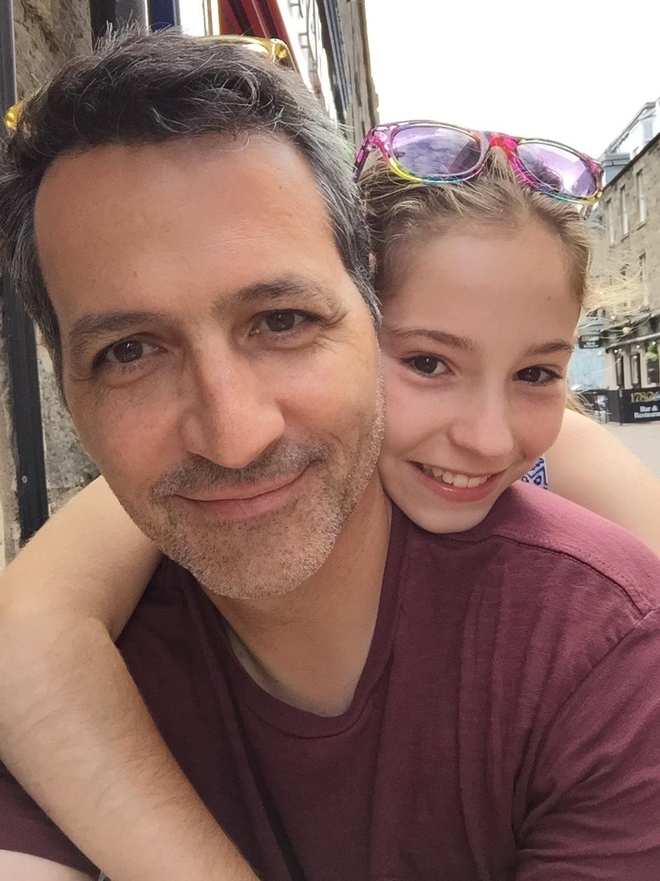 Ella and me in Edinburgh