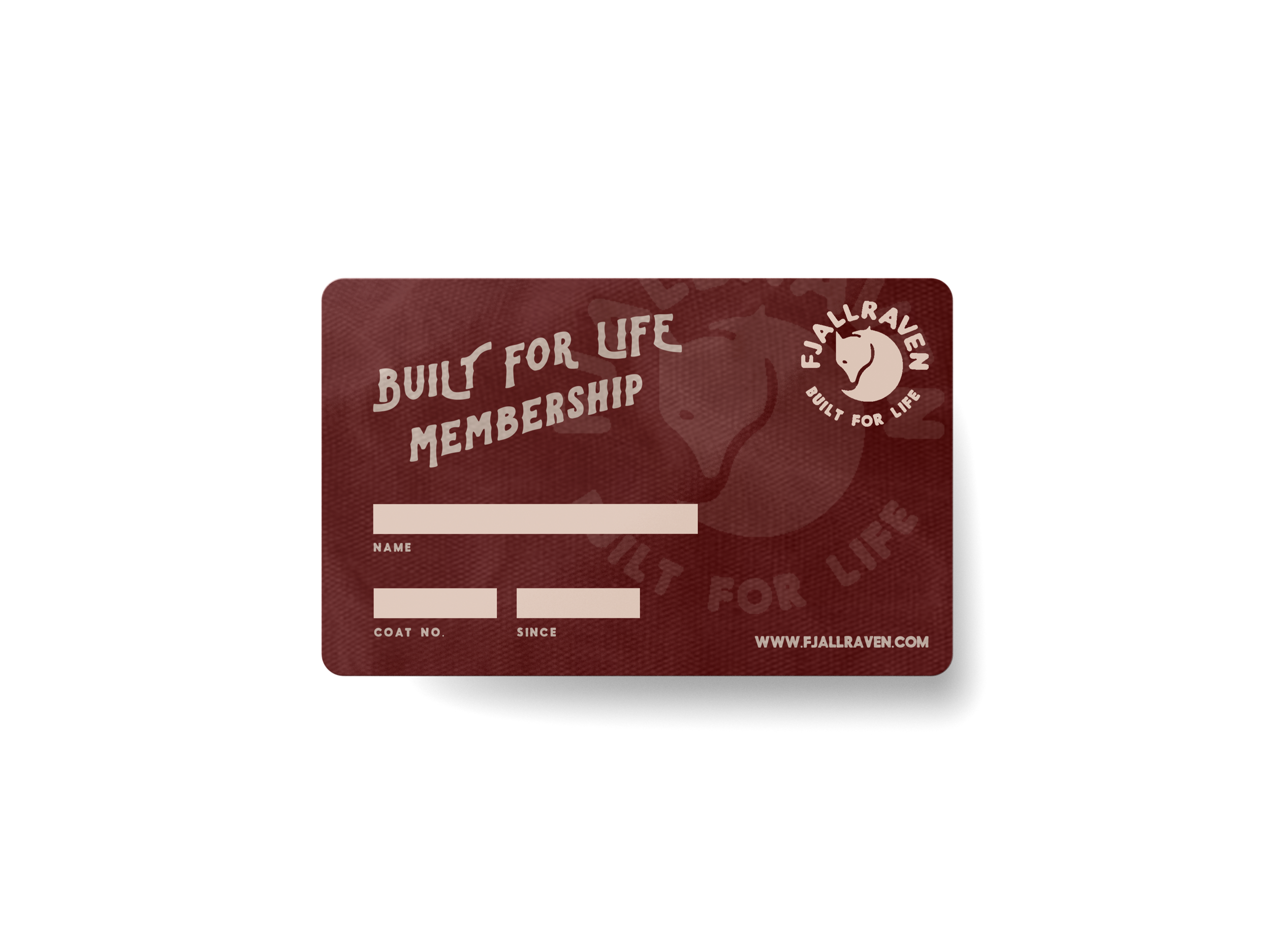 When you purchase a coat, you'll receive a lifetime membership card.