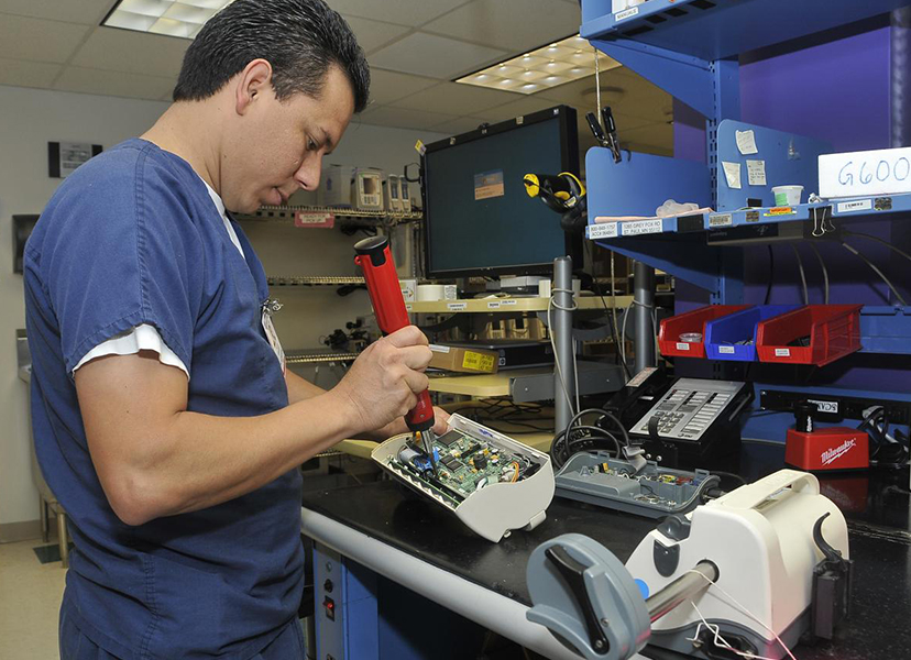 medical equipment repairs -