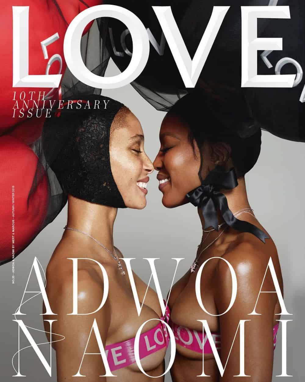 Beautiful British Supermodels Adwoa Aboah and Naomi Campbell