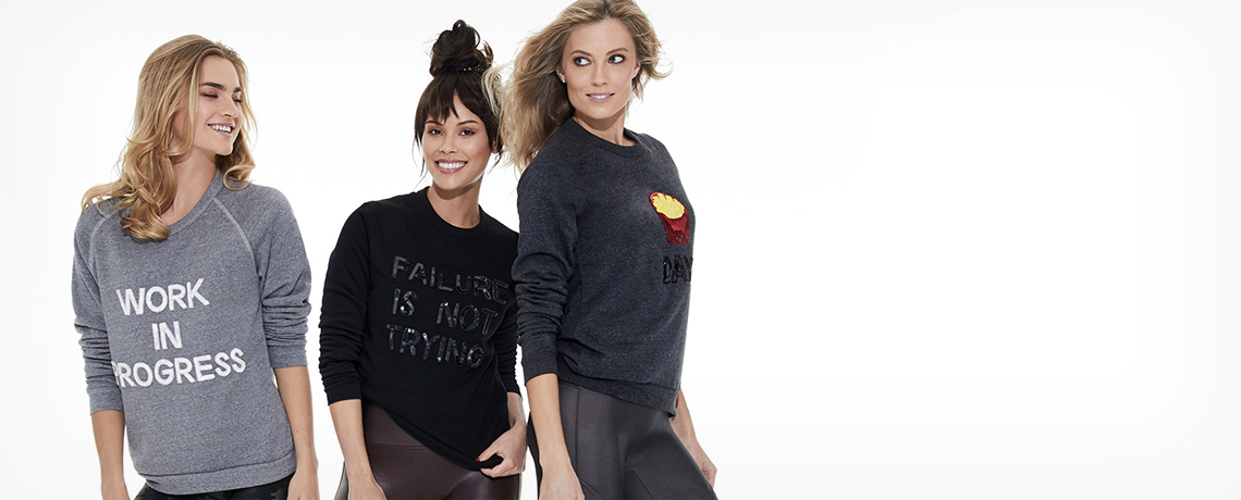 Bow & Drape + SPANX Awesome Sweatshirts