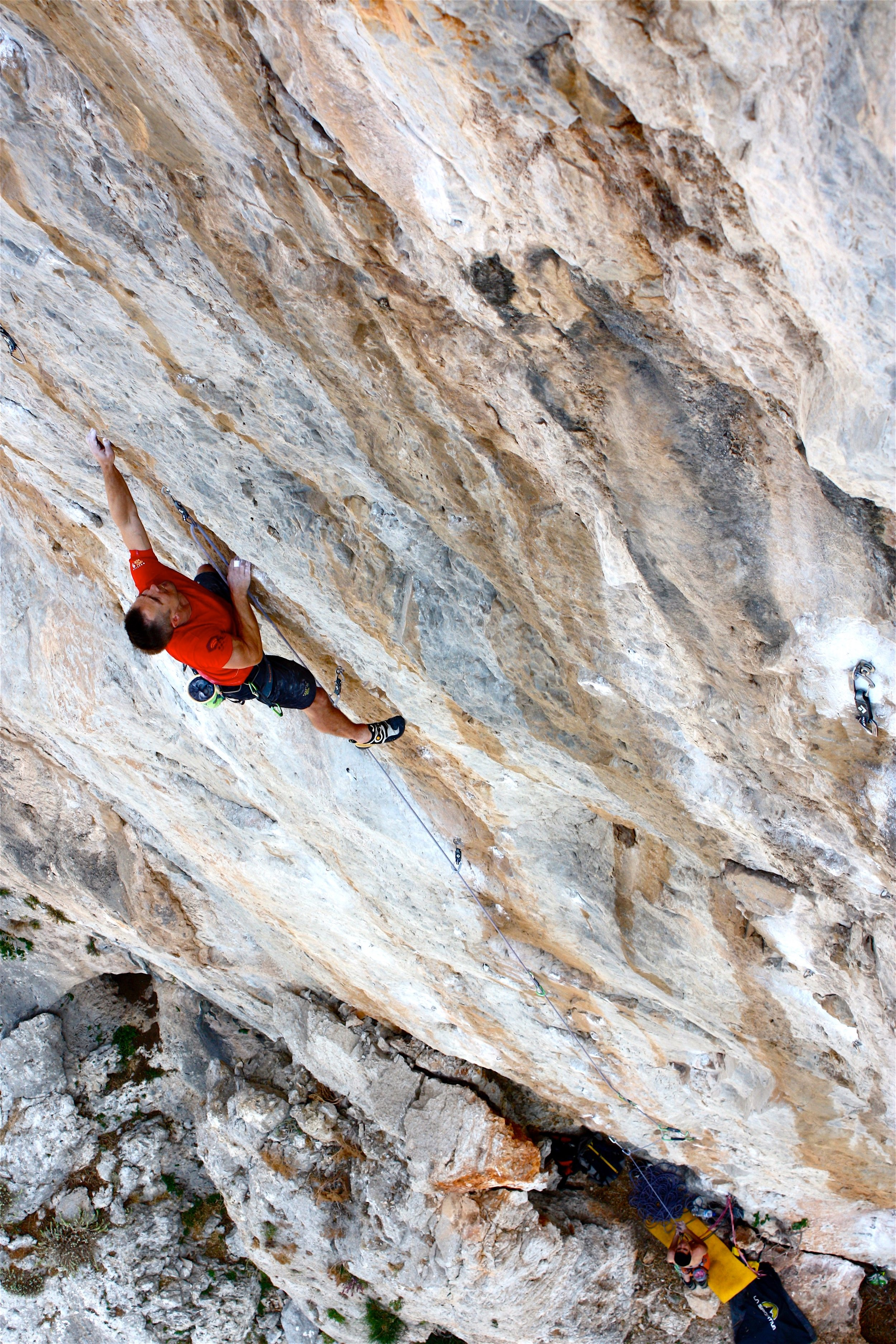 The Poison 7c+, Lower Spartan Wall, Kalymnos.  Photo: Selina Chen
