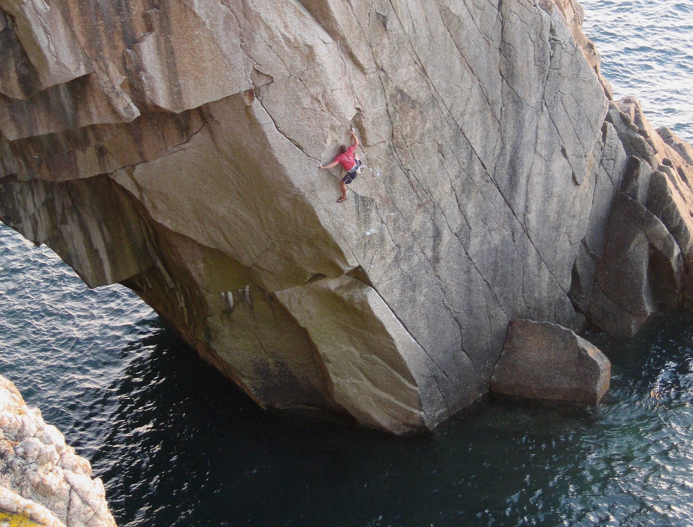 The Flying Dutchman 7b S2, Lundy. First DWS ascent.