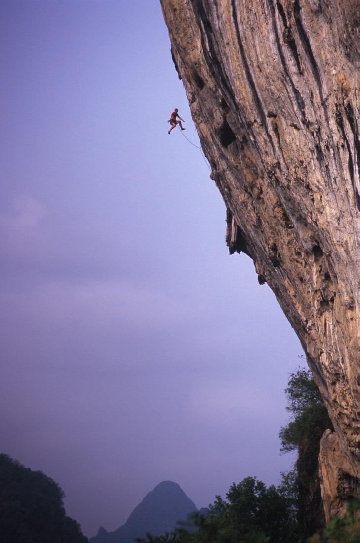 The Axeman 8a, White Mountain, China.  Photo: Mike Robertson