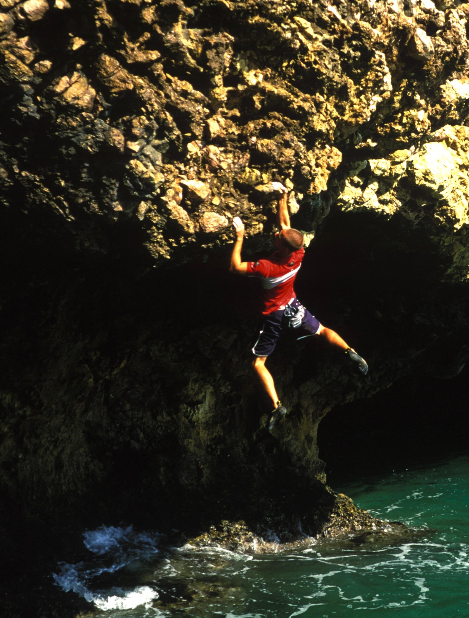 Let's Give it 7c, Ponta Garcia.  Photo: Mike Robertson