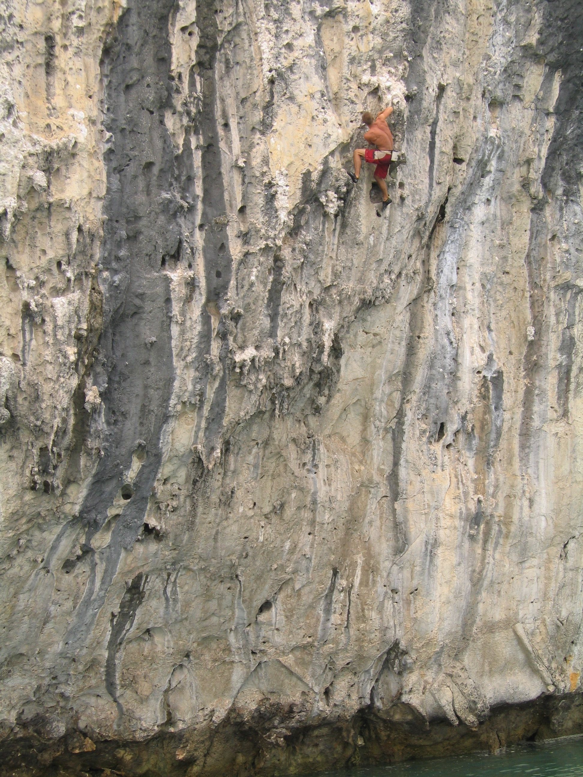 Tarantula 7b, Cathedral Rock. First ascent in 2003.  Photo: Gresham collection