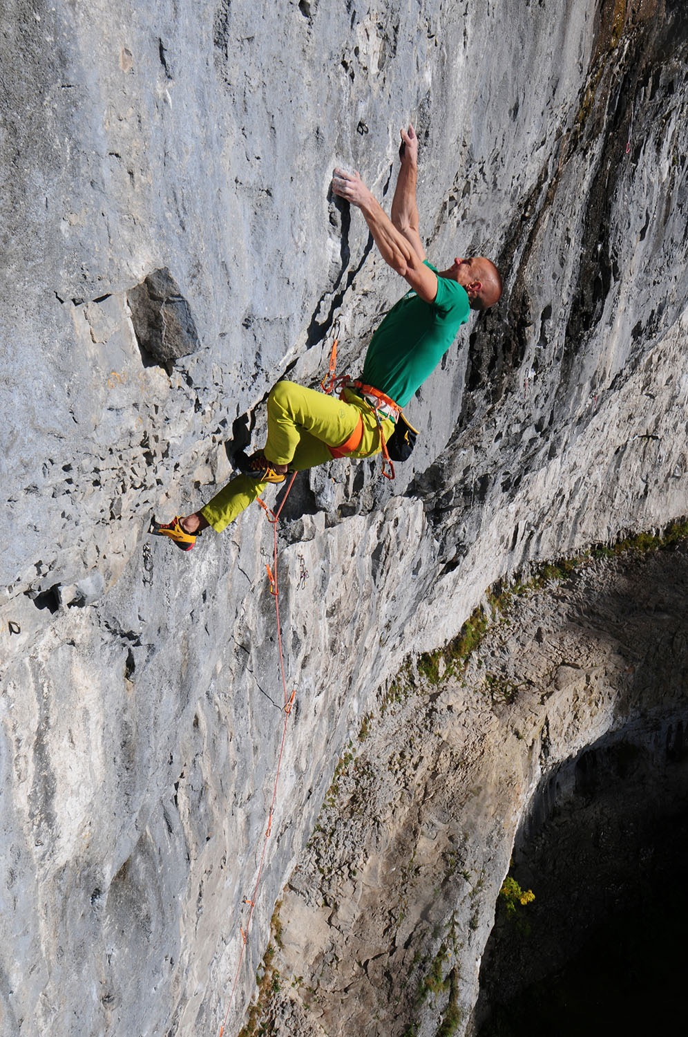 Sabotage 8c+/9a, Malham, UK. First ascent in 2016.  Photo: Ian Parnell