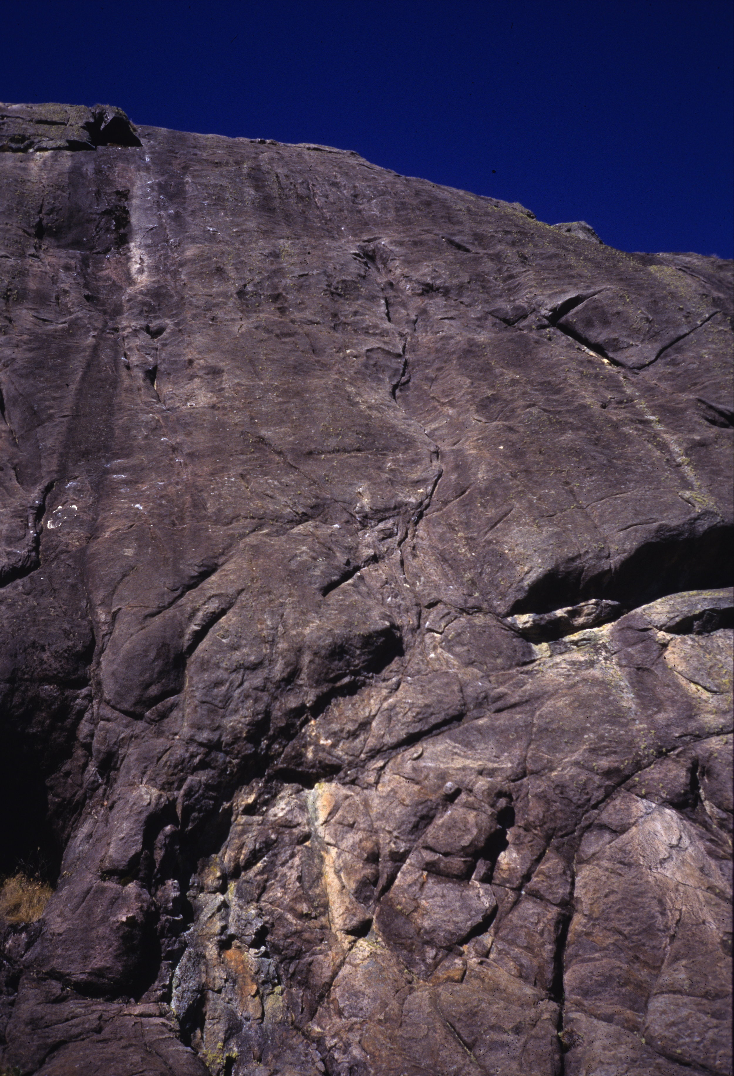 Crag Zero in Itachaia National Park, with the line of Boiling Point E8 6b in centre-frame.  Photo: Mike Robertson