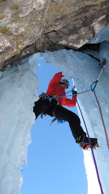 Spitfire WI 5+, Lyngen Alpes, Norway. First ascent with Mark Garthwaite in