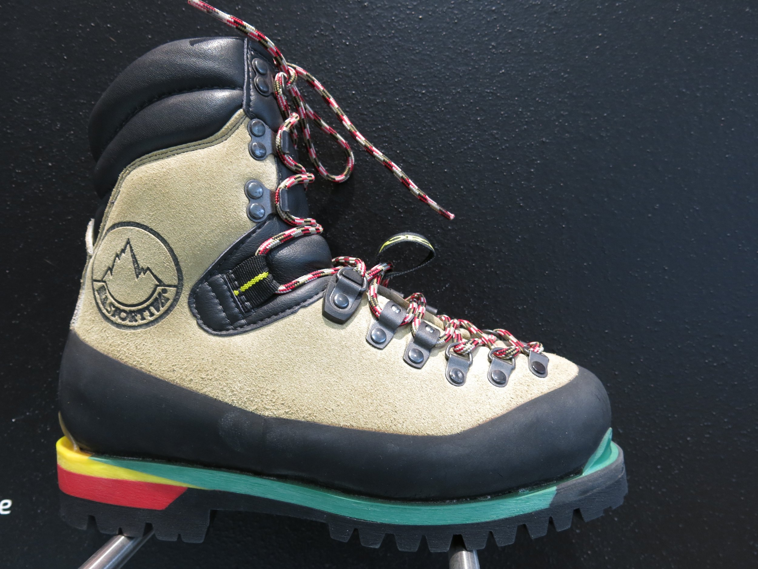La Sportiva's iconic, Nepal top, the boot that started the 'leather revolution'.