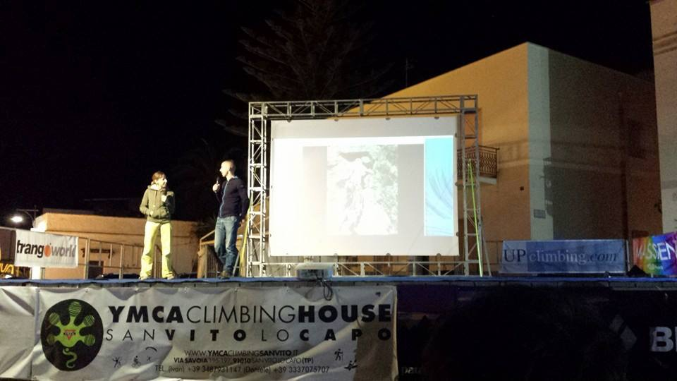 Guest speaker at the opening ceremony of the San Vito climbing festival in Sicily in 2015
