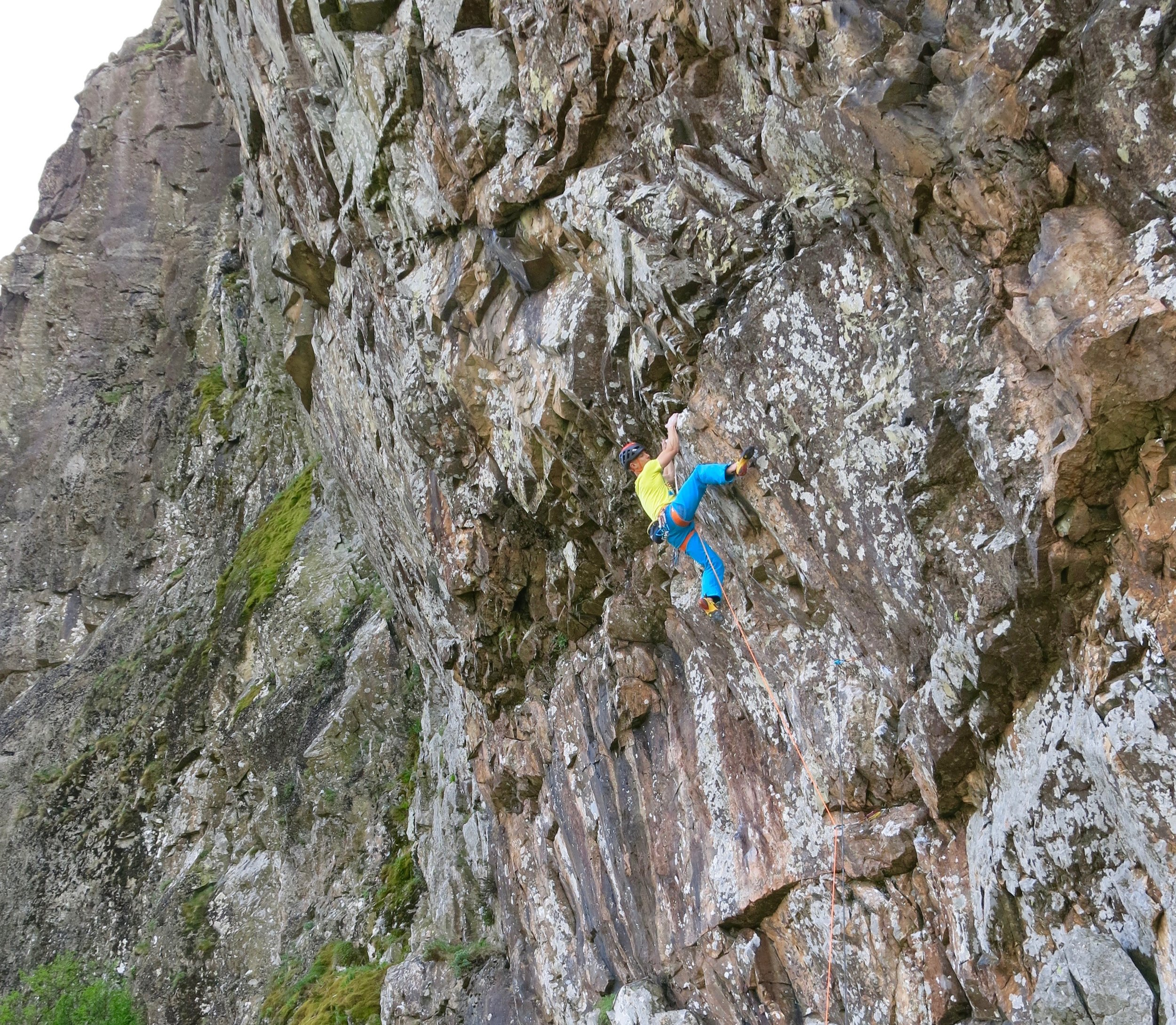 Fearless E9 6c, Dove Crag, Lake District. First ascent in June 2019.