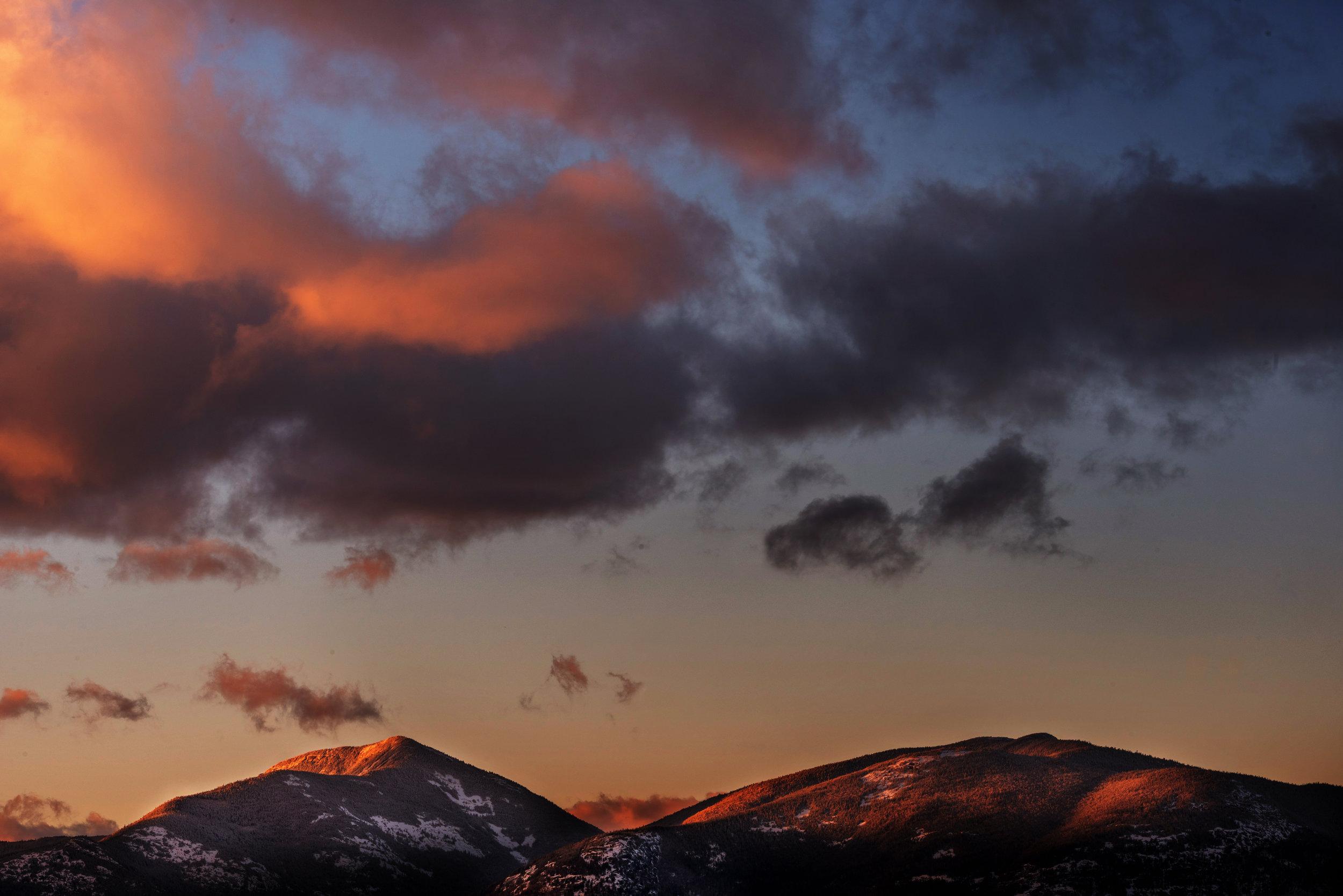 Open Edition #7 — Adirondack Winter Sunset - 12x18 - $45