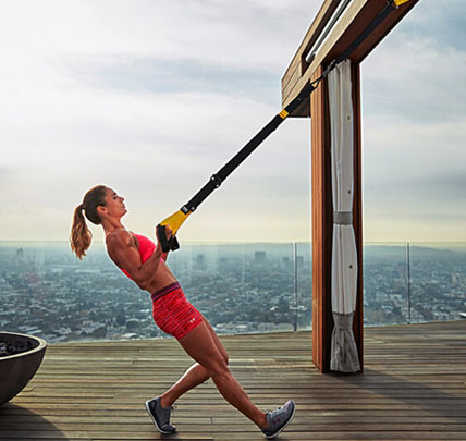 - The TRX provides a total-body workout for men and women of all ages and fitness levels with just one piece of equipment that is easy to set up, use and store. TRX products are made by Fitness Anywhere, which designs and sells original products of innovative design and premium quality construction. Dave travels with his personal TRX suspension system - it's light, pack-able, durable, and versitile.
