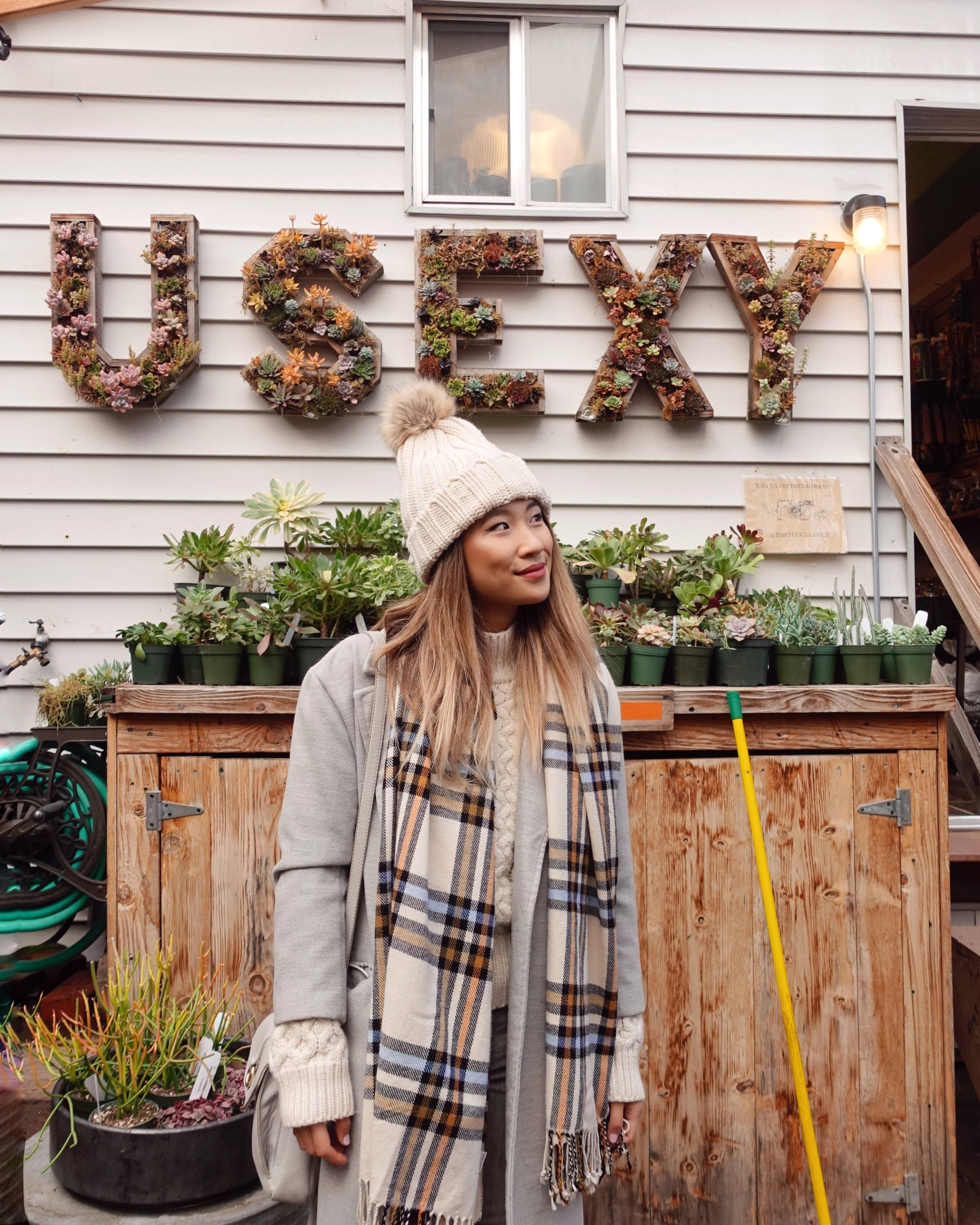 Head to the back of the Succulence store to find this fun USEXY sign!
