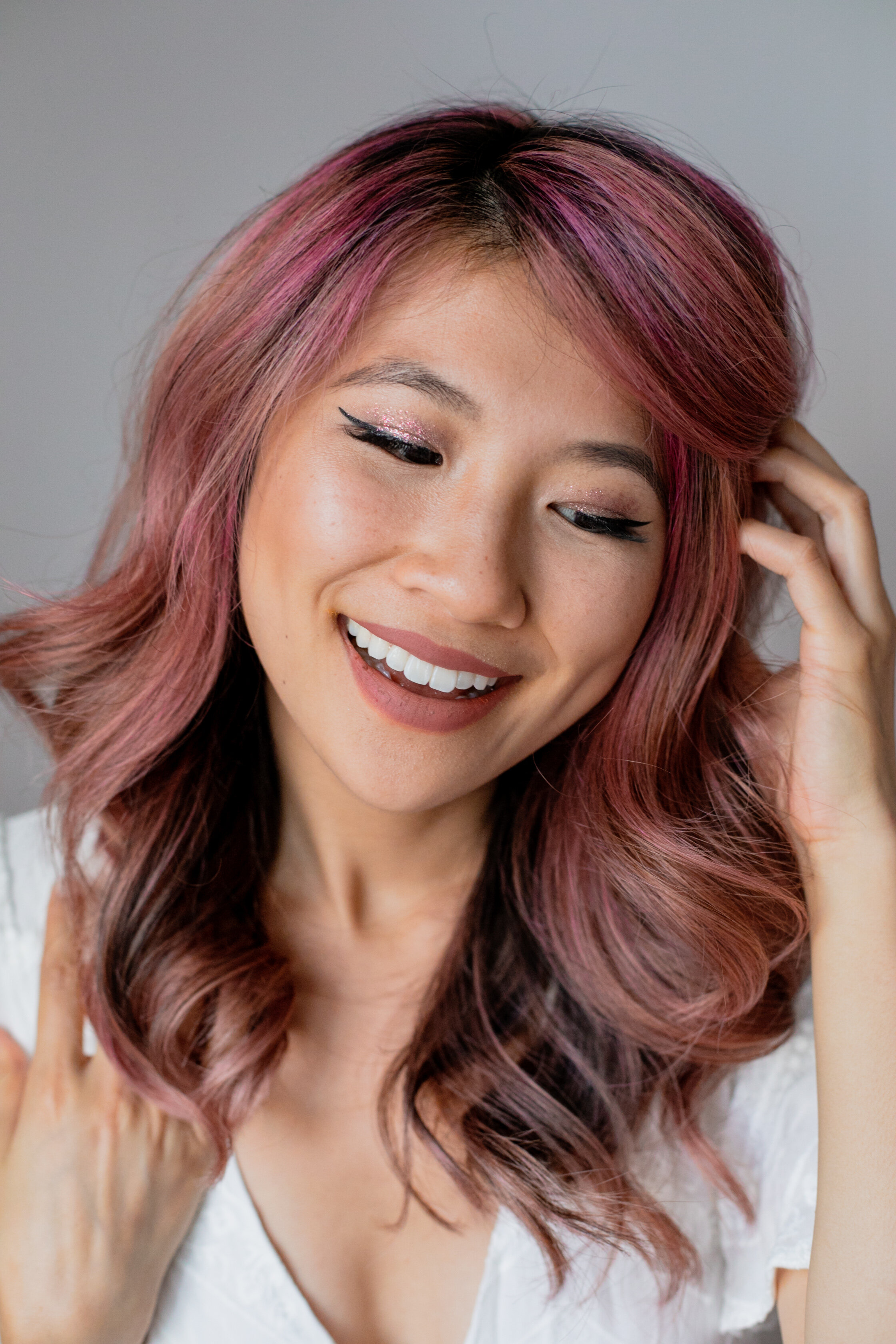 How To Dye Hair Rose Gold At Home Ally Chen