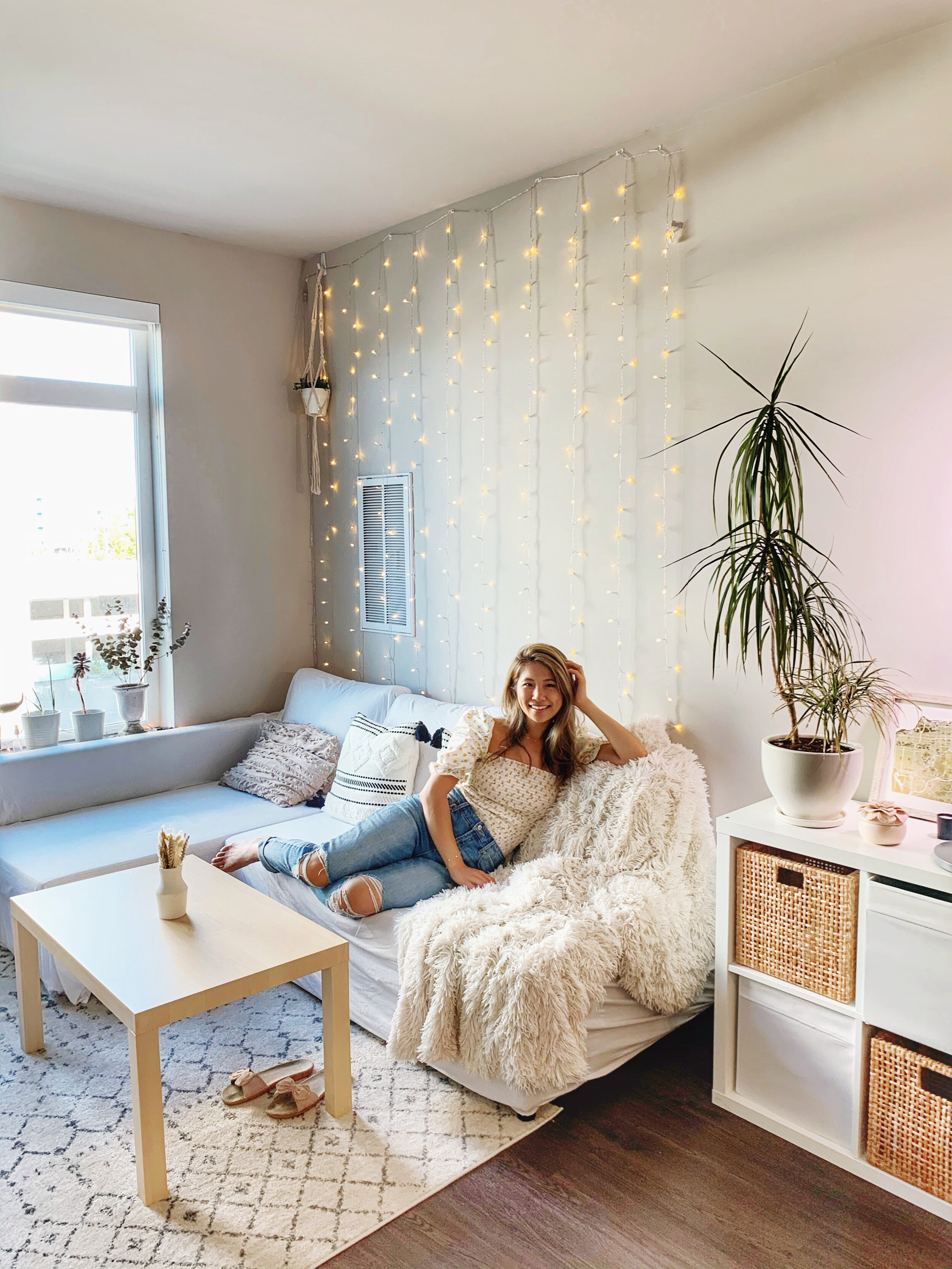 Boho Apartment Makeover Living Room And Bedroom Transformation Renter Friendly Tips Ally Chen