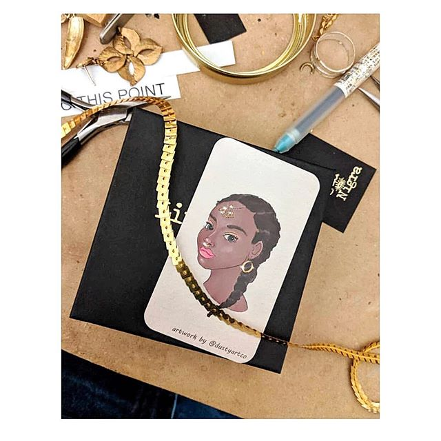 My art is featured in the gorgeous packaging of super talent @linguanigra. Her jewelry is so special - go check her out if you don't know already ✨Seeing my art used in different ways like this is the best!
