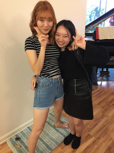 Chloe with Mimoda, Japanese student…..