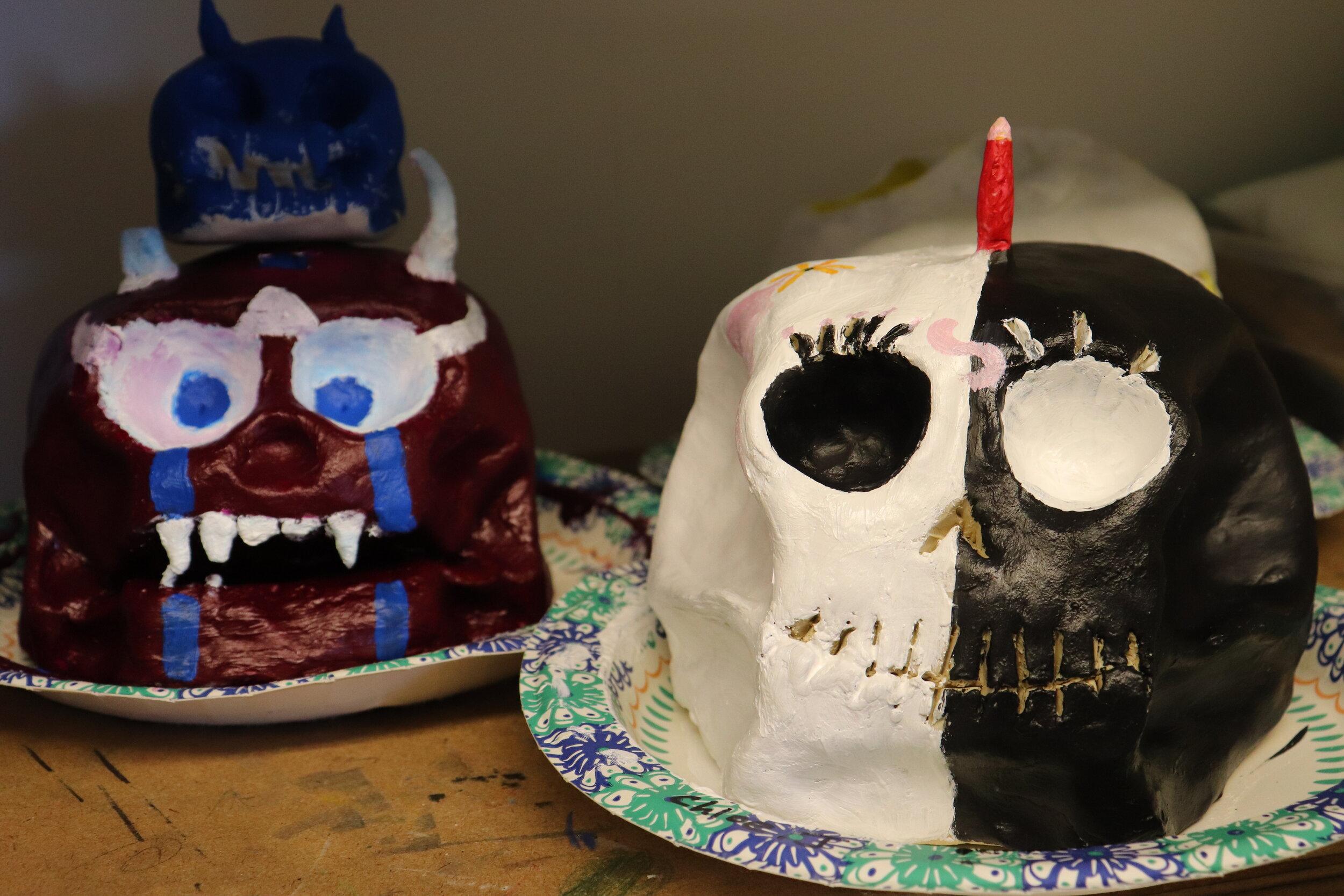 Dia De Los Muertos Skulls Project - Spanish 2 X Art Studios
