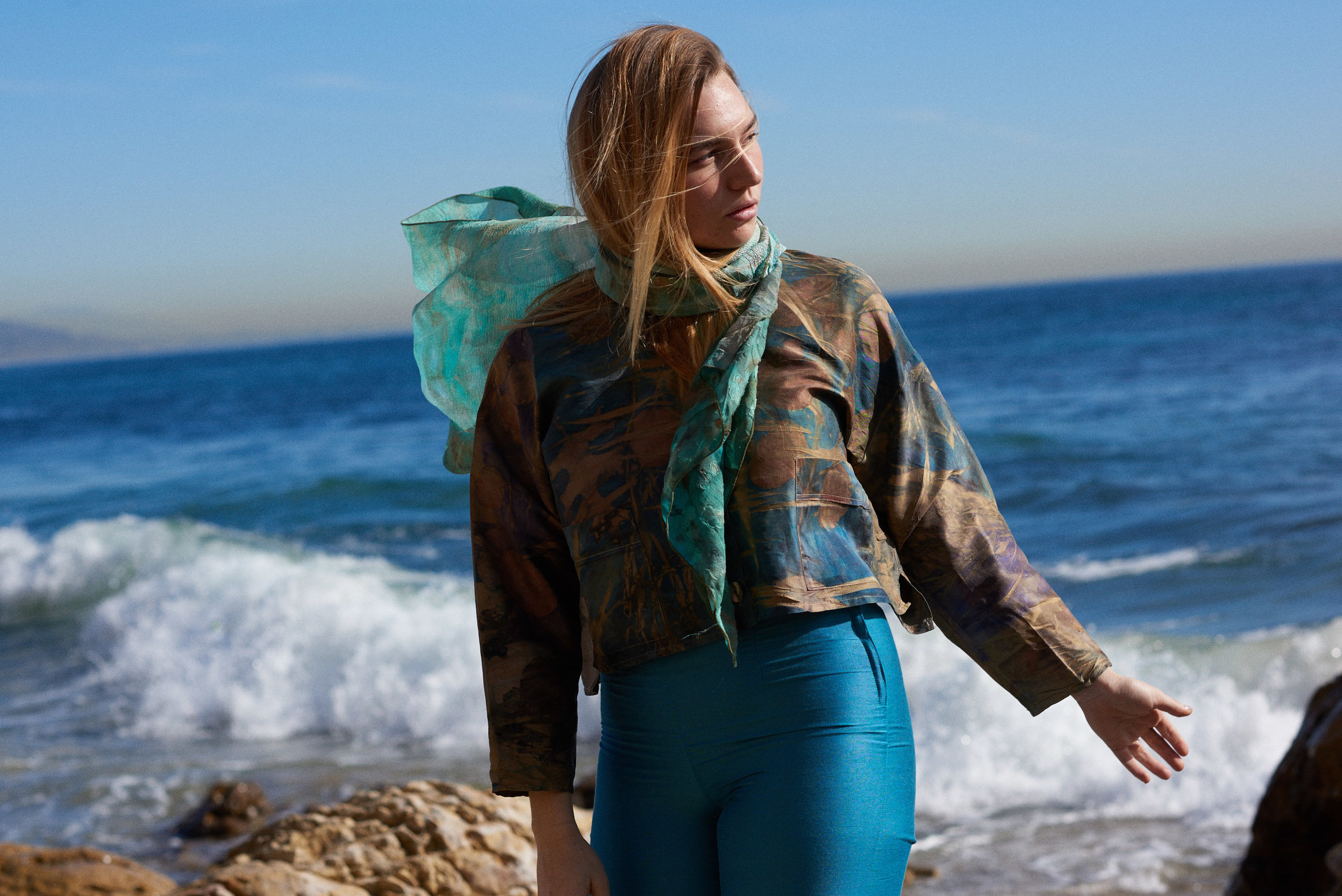 Eco Dye Silk Jacket, Eco Dye Silk Scarf